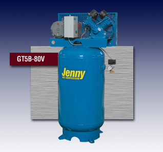 Jenny Two Stage Electric Stationary Air Compressor - Model GT5B-80V